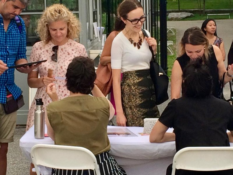 Volunteers the FDR Four Freedoms Park depends on welcome the first surge of visitors