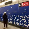"""Susan Sze's """"Blueprint for a Landscape"""" trails down the 96th Street station...."""