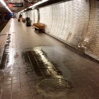 Super slippery tiles from uncontrolled ground water leaks