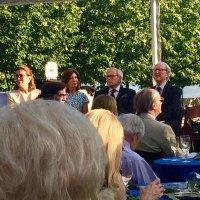 Brokaw flanked by Lt. Governor Kathy Hochul and Ambassador William J. vanden Heuvel