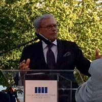 As sunset showered the trees behind him in Four Freedoms Park on Roosevelt Island, Tom Brokaw talked about family and spiritual connections to FDR and the American people