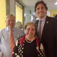 Roosevelt Island's tireless volunteer Lynne Strong-Shinozaki with Bill Dionne and City Council Member Ben Kallos.