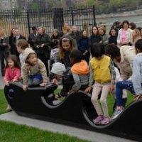 Roosevelt Island Children Get the First Ride