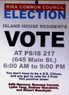 Common Council Election Poster That Left Candidate Frank Farance Off