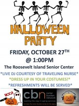Friday, October 27th, Halloween Party at CBN/RI Senior Center