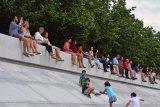 Manhattanhenge viewing, 2017, FDR Four Freedoms Park