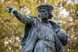 Christopher Columbus Stature in Cranston, Rhode Island