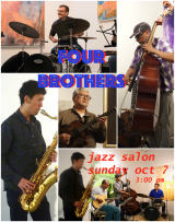 Today, Gallery RIVAA Opens the Season with Four Brothers at a Jazz Salon