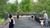 Artist rendering of the FDR Hope Memorial by Rendering is by Aanya Chugh.