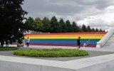 This year, FDR Four Freedoms Park hosted the largest gay pride flag in New York history, but the Times says we have just a few residential towers and not much else.