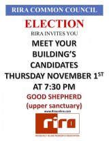 Roosevelt Island Residents Association Invites You To Candidates Night, November 1st