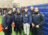 PSD Chief Jack McManus, center right, at a RIOC event in October.