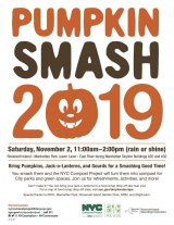 November 2nd, Saturday, NYC Compost Project's Pumpkin Smash