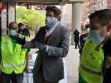 City Council Member Ben Kallos organized the face covering distribution.