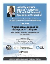 Wednesday, August 23rd, Ferry Service Info with Rebecca Seawright & UDC