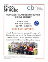 Thursday, June 6th, 1:00 p.m. 92nd RI Senior Center Chorus Concert