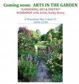 Thursdays until June 21st, Arts in the Garden, CBN/RI Senior Center