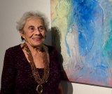 Arline Jacoby at a Gallery RIVAA opening in June