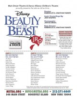 TODAY thru June 10, Disney Beauty and the Beast, MST&DA Children's Theatre