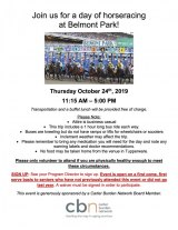 October 24th, The Carter Burden Network Invites You To Belmont Park