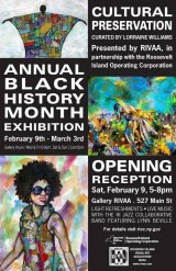 """Continuing at Gallery RIVAA, """"Cultural Preservation,"""" Black History Celebration"""