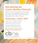 April 5, Introducing the Carter Burden Network at the Senior Center