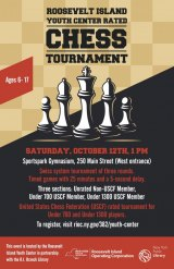 October 12th, Free: Youth Center Hosts First USCF Rated Tournament