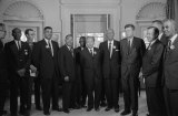 Civil Rights Leaders Meet With President Kennedy. John Lewis can be seen in the back row, to the immediate left of Dr. Martin Luther King Jr.