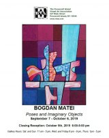 Saturday, October 5th, Closing Reception, Bogdan Matei's Poses and Imaginary Objects