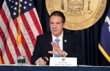 Governor Andrew Cuomo at December COVID-19 news briefing.