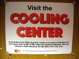 Cooling Center Sign Posted in Island House