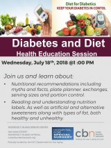 Save a Life: Learn About Diabetes and Diet