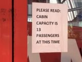 Passenger capacity limits now in place.
