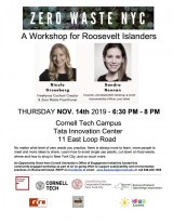 SOLD OUT: November 14th, Zero Waste NYC, Workshop for Roosevelt Islanders
