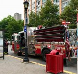 FDNY arrived at the Roosevelt Island Tram Plaza at 7:52 P.M.