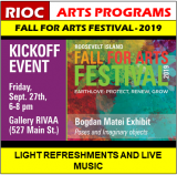 September 27th, RIOC Adds Kickoff Event, Fall For Arts 2019