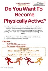 65+? Want To Be Physically Active and Get Paid For It?