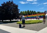 The world's largest pride flag fit right in on Roosevelt Island.