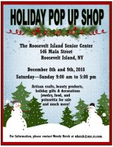 December 8th & 9th, Holiday Pop Up Shop, CBN/RI Senior Center