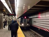 After many years if waiting, a Q Train enters the 63rd Street Station, heading north.