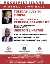 Tuesday, July 14th, 2020, Meet Shelton Haynes Online Town Hall