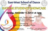 November 4th, Kathak Student Showcase, MST&DA