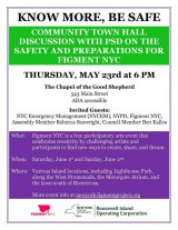"May 23rd at 6:00, RIOC invites you to ""Know More, Be Safe"" Town Hall"