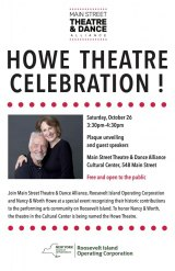 October 26th, Worth & Nancy Howe Return to Roosevelt Island for One Big Day