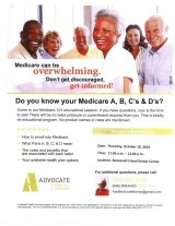 October 10th, Medicare 101, CBN/RI Senior Center
