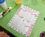 The Menu, featuring creative, delicious foods, for Mother's Day Brunch at the Senior Center.