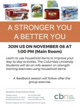 Wednesday, November 8th, A Stronger You/A Better You, CBN/RI Senior Center