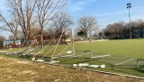 Fence torn down again, soccer players liberated Octagon Field.
