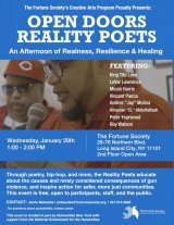 January 29th, Coler Hospital Reality Poets at the Fortune Society, Long Island City