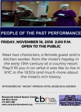 FREE: Meet the Past, Friday, November 16th / 2:00 P.M. CBN/RI Senior Center
